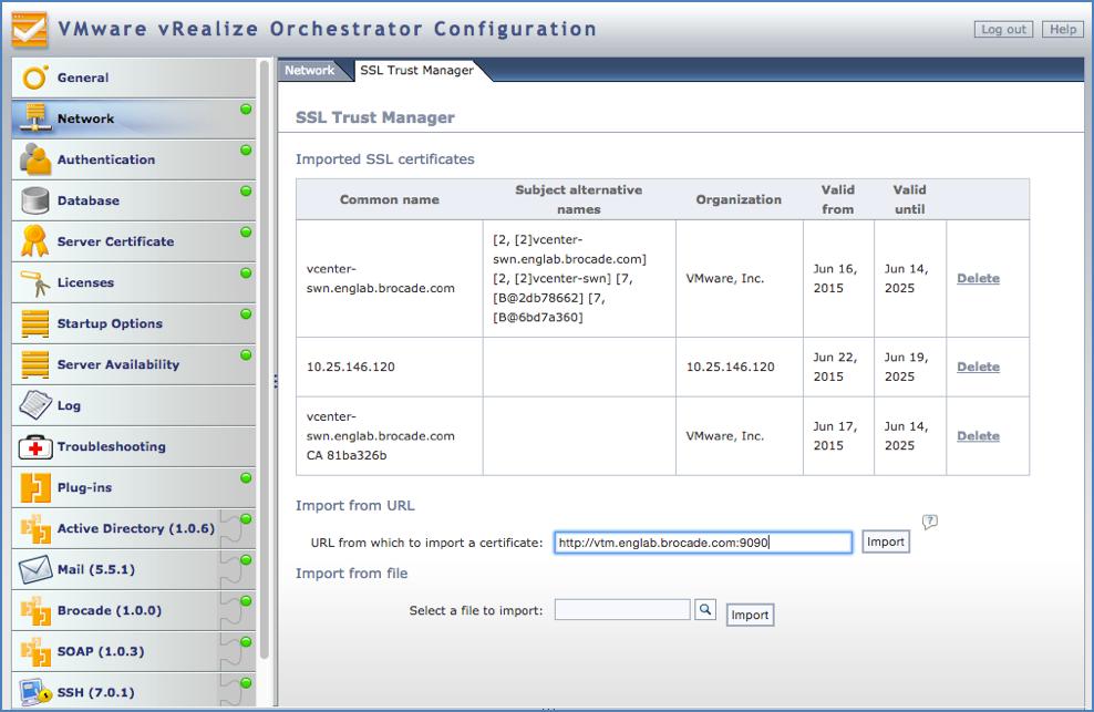 Brocade Virtual Traffic Manager Plugin for VMware