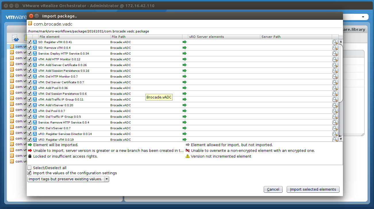 vRealize Orchestrator Workflows for vADC - Pulse Secure